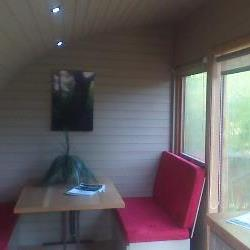 camping pod for glamping or garden office from builth wells powys wales.