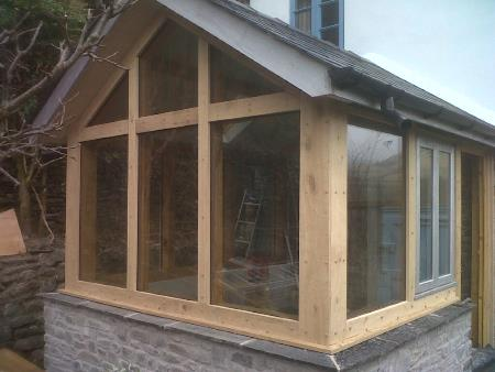 Handmade Oak Garden room