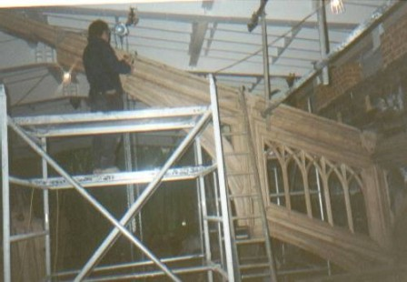 John price working on the restoration of the great hall in Windsor Castle.
